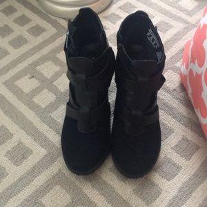 Black ankle heels